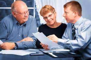Couple seeking Retirement Planning Advice with advisor