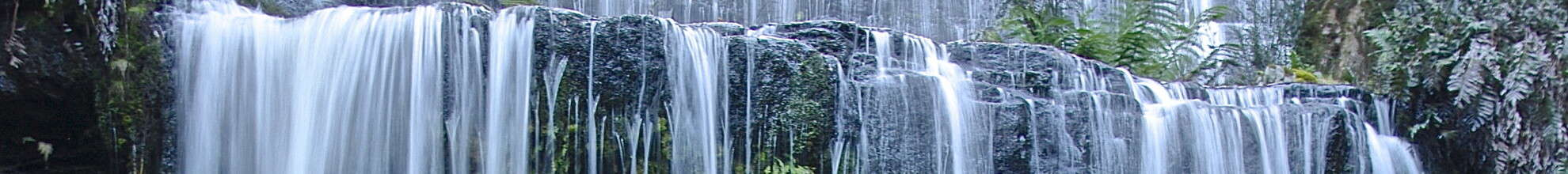 gently cascading waterfall