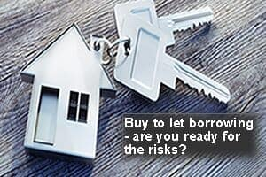 key-ring with house and keys attached with gearing wealth creation message asking if ready for the risks