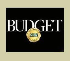 while lettering on black background displaying budget 2018